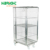 2 Side Wire Mesh Steel Roll Container with Wheel