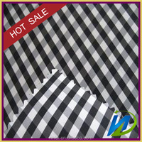 cotton printed black and white stripe shirt and dress fabric