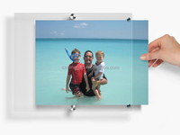 wall hanging acrylic picture frames/hanging brochure holder
