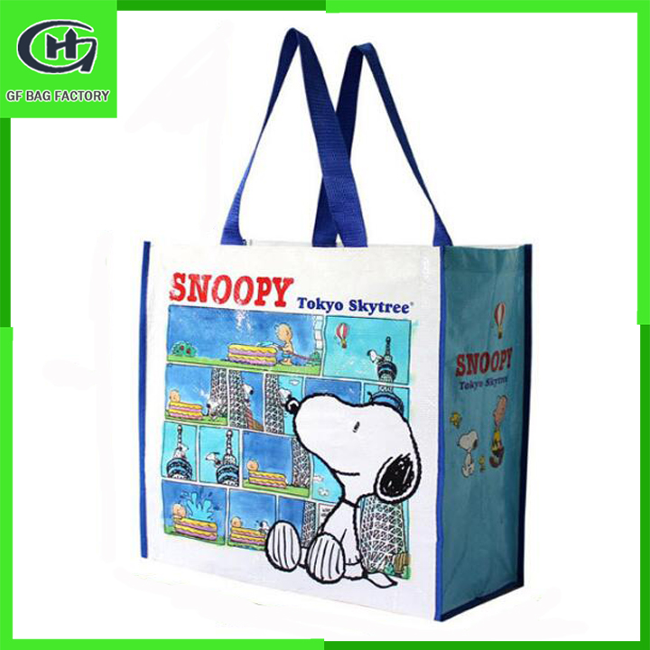 custom pictures printing collapsible pp non woven shopping bag