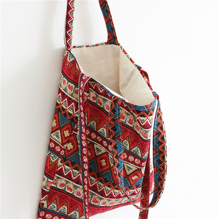 Promotional exotic simple canvas tote shoulder bag with 2 handles for shopping or beach activities