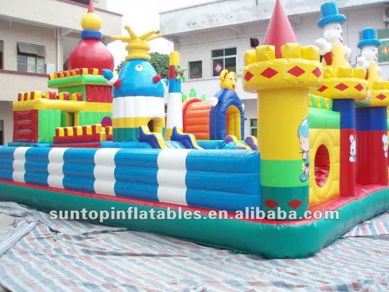 colorful inflatable happy city amusement park toy