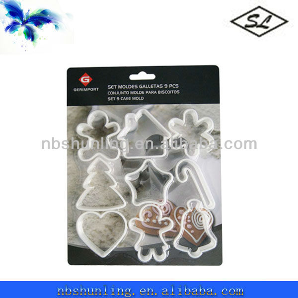 different shapes plastic cookie cutter mold