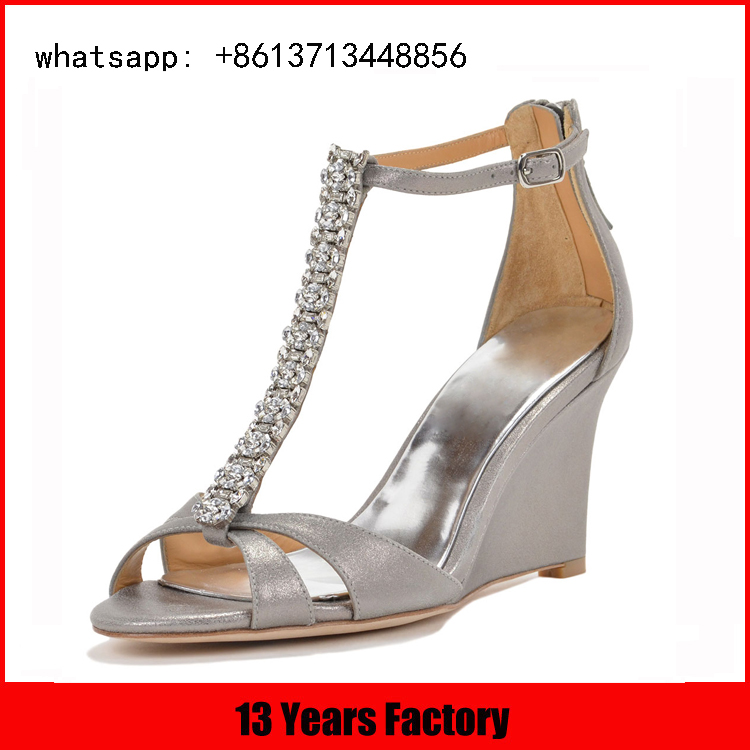 latest designs dress ladies high heel fancy sandals