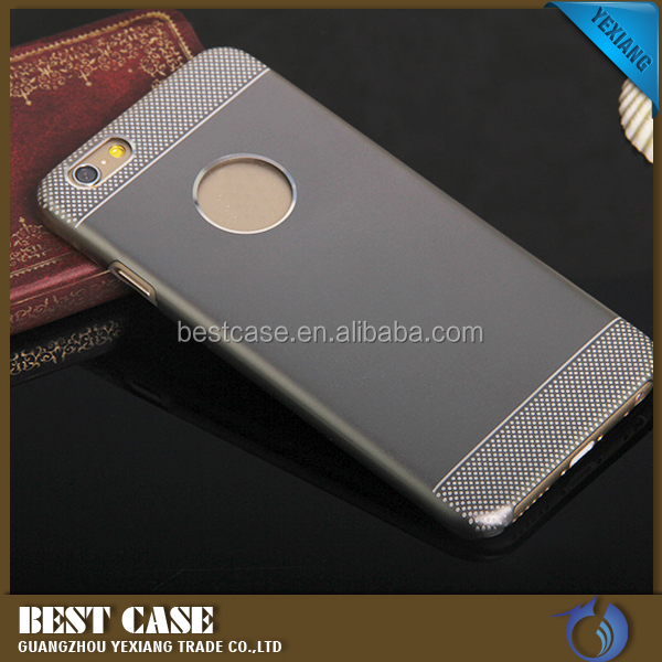High quality manufactory 2 in 1 metal case for iphone 6s plus back cover