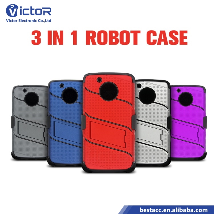 360 Heavy Duty Rubber 5 Inch Shockproof TPU PC Belt Clip Kickstand Hard Shell Combo Mobile Phone Case for Motorola Moto G5 Case