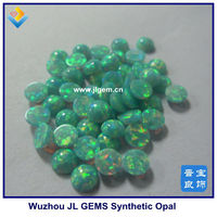 wholesale green round cabochon opal for body jewlery