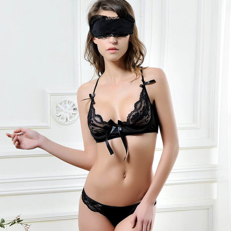 New strappy lace bra and panty set sexy girls bra