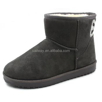 warm fur lining winter ladies snow boots