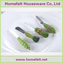 Vegetable polyresin handle of the mirror finished SS304 cheese cream knife