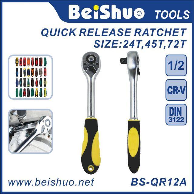 1/2'' 1/4'' 3/8'' Drive Quick Release Ratchet Handle Torque Wrench