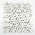 interior decoration marble hexagon bathroom mosaic tile