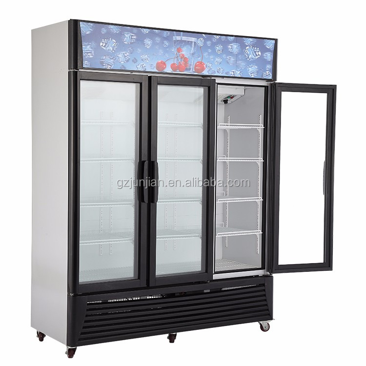 Refrigerated Vertical automatic 3-door glasses display showcase