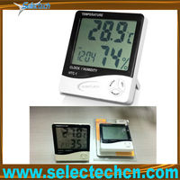 Multifunction Mini LCD High Quality alarm thermometer With Alarm Calendar And Timer SE-HTC-1
