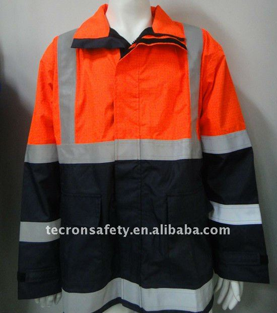 PU fire retardant antistatic rain coat