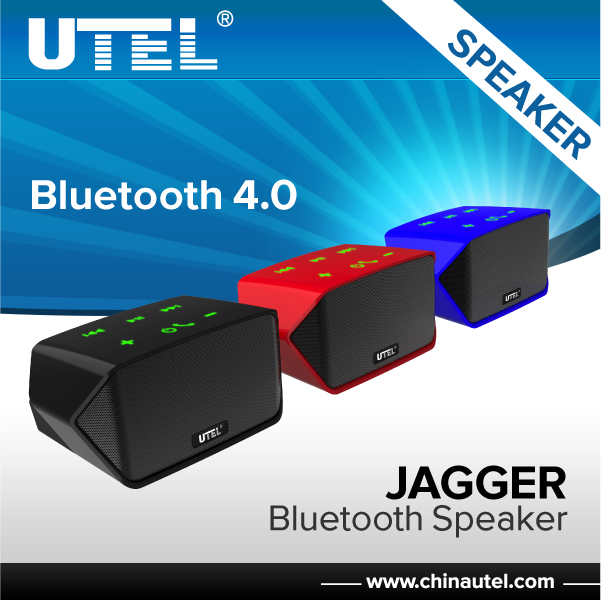 UTEL JAGGER colorful dual link touch-panel bluetooth 4.0 version small bluetooth speaker