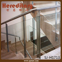 wall mounted stainless steel glass railing metal deck stairs handrail