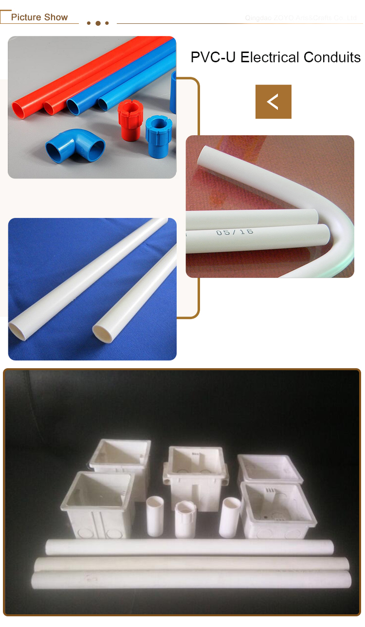 Made in china upvc electrical link conduits for home wire application