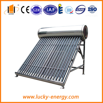 inner and outer tank with stainless steel type solar water heater
