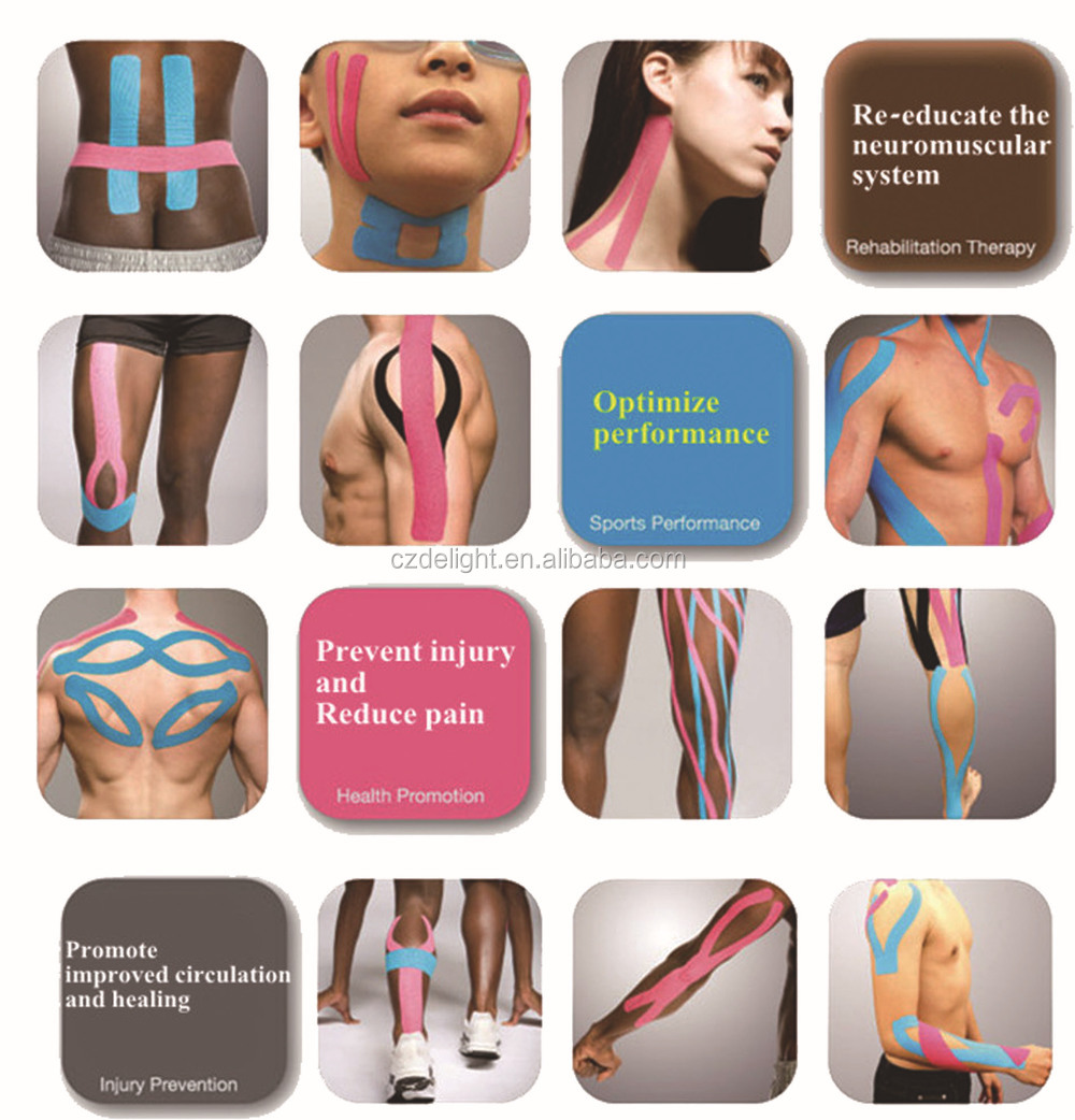adhesive kinesiology muscle tape(CE, FDA approved)