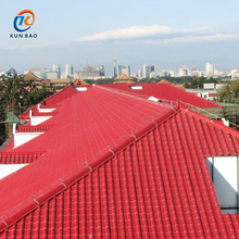 Engineering Plastic Coated Pvc Spanish style ASA synthetic resin tile Roofing Sheets With Charming Colors