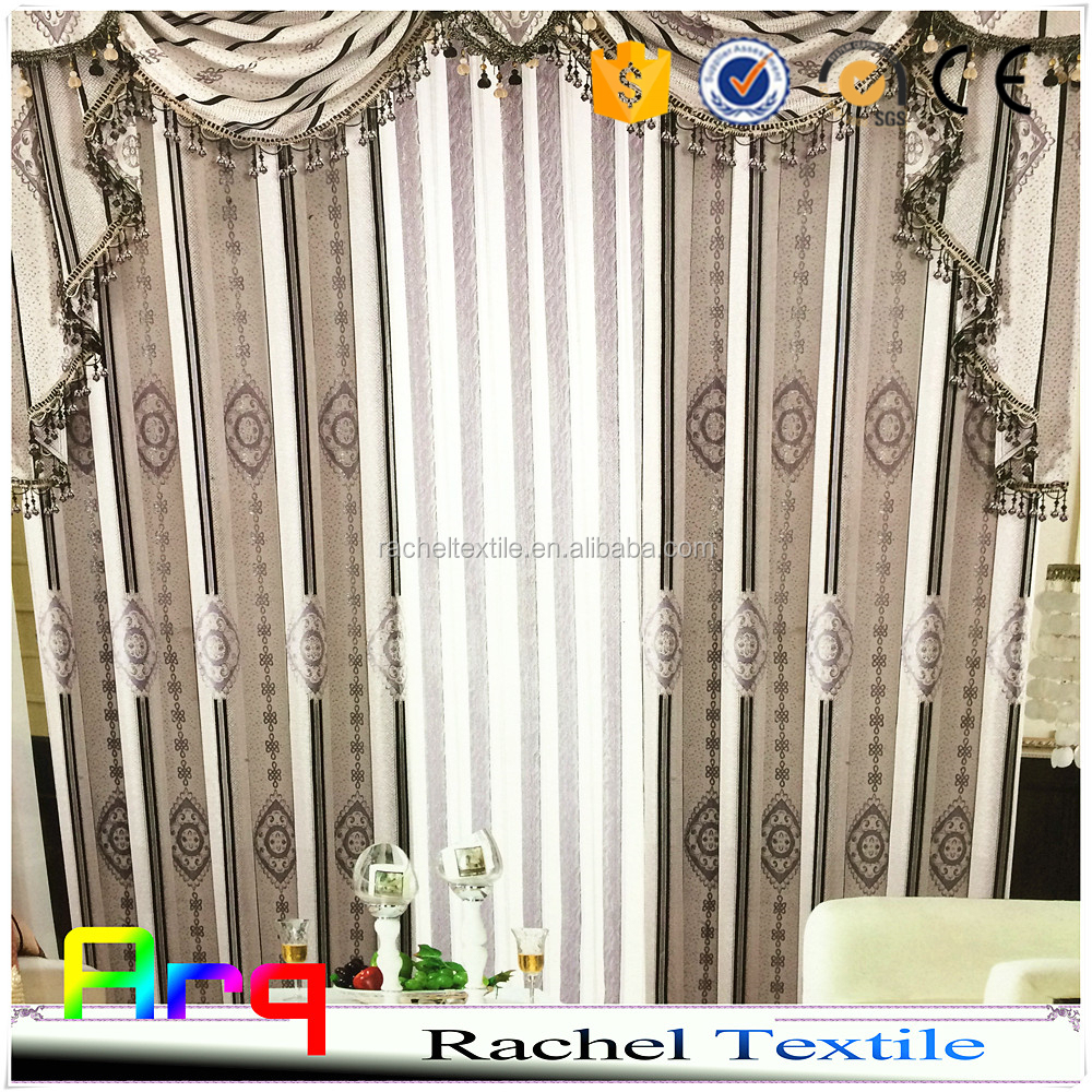 Lurex fabric- block design jacquard style for curtain/ sofa/cushion cheap price with good quality