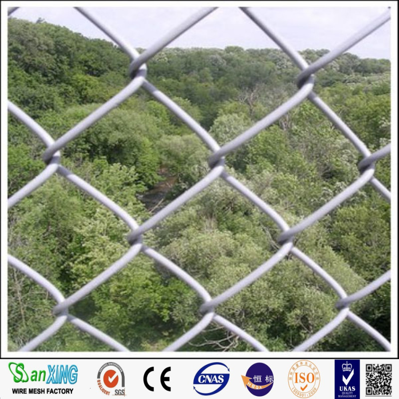 Temporary Construction Galvanized Chain Link Fence in Garden Farm Prison