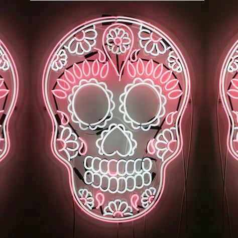sugar skull neon <strong>sign</strong> LED