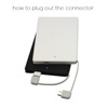 2500mah built in cable credit card gift power bank for samsung galaxy