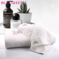 Custom 100% Cotton Hand Towel Hotel Bath Towels Set With Embroidery Logo