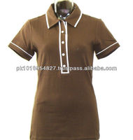 OEM service guangzhou custom polo shirt for WOMAN