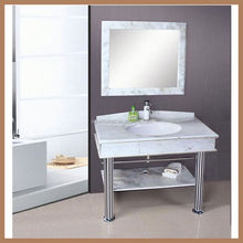 AQUARIUS Solid Wood Contemporary Double Sink Bathroom Vanity with Top