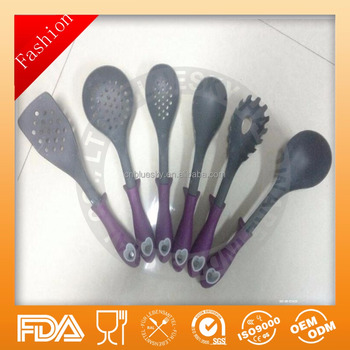 The latest food grade silicone kitchenware set /nylon kitchenware