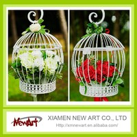 curved wedding decorative flower cage metal decorative birdcages chinese bird cage