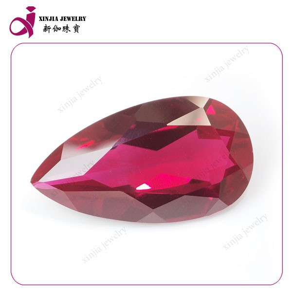pear shape ruby synthetic corundum rough
