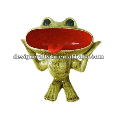 ceramic frog floor standing ashtray
