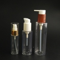 Cosmetic Pet Bottles for Cream, PET Lotion Pump Bottle, 50ml Hair Oil Bottle