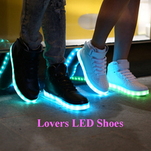 Hot Selling led light sneaker shoes, latest Fashion high top led sneaker, Led Light up Men Shoes Men Sneakers Alibaba Express
