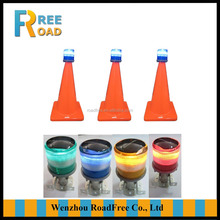 RED white yellow blue green LED Solar flashing Traffic cone warning lights