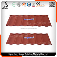 Low Price Colorful Classic Different Types of Stone Coated Metal Roofing Tile