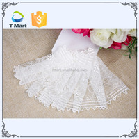 Wholesale custom 90 nylon 10 spandex swiss italian indian bridal white cord elastic stretch voile lace fabric for wedding dress