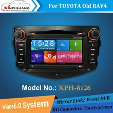 1080P HD Video car dvd player for TOYOTA RAV4 with BT, IPOD, TV, front DVR, DSP Audio, CD Copy