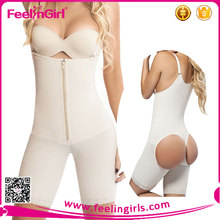 Nude Zipper Open Butt Lift Pants Girdle Waist Trainer