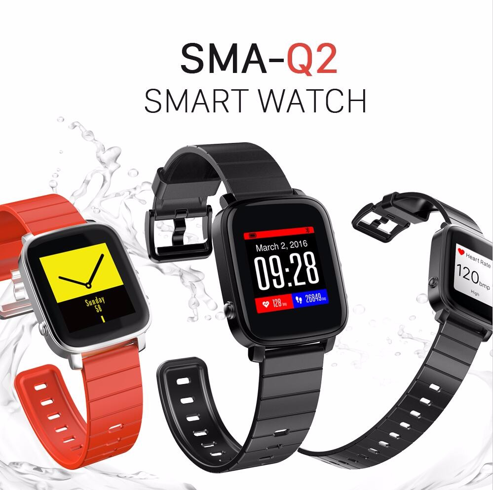 SMA High Quality Bluetooth Smart Watch with Heart Rate Monitor 40days Long Standby SMA-Q2