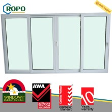 White UPVC frame barthroom sliding interior door panel