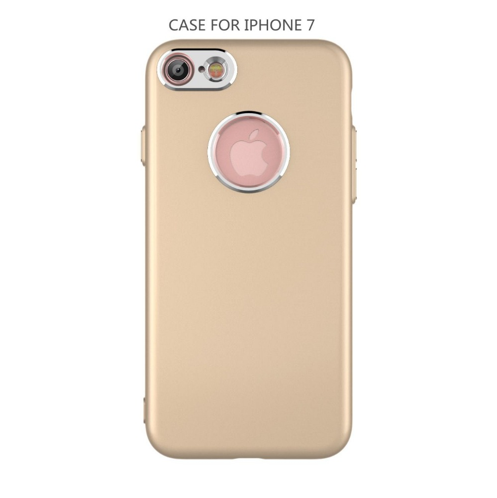2017 New Design Electroplating Camera Hole Fuel injection Soft TPU Rubber Coating Back Cover Mobile Phone Skin For iPhone 7 Case