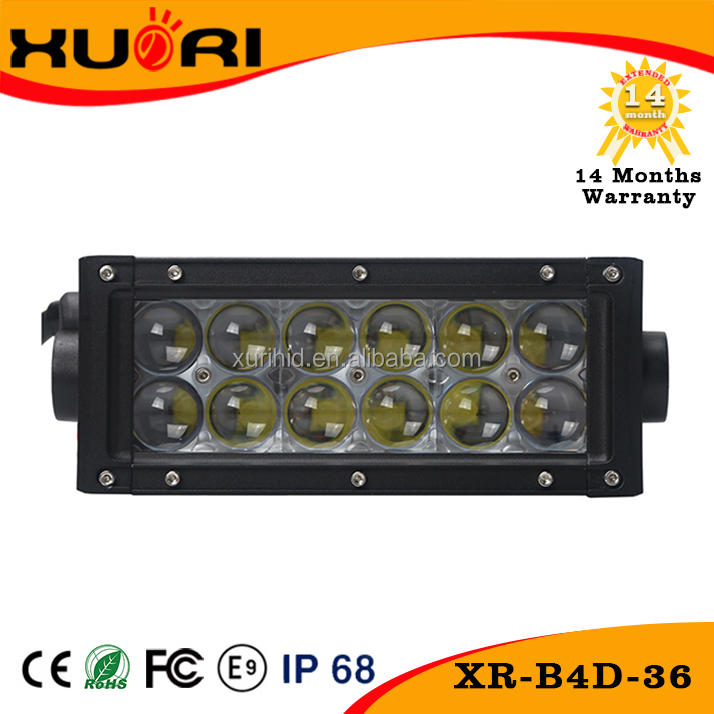 2016 Auto parts 4D 36w 7.5inch 4320LM Crees Led Light Bar with CE RoHS FCC E-mark certification