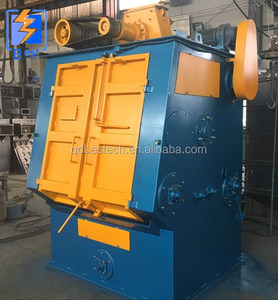 Shot Blasting Machine For Backing Plates Cleaning Of Disc Brake Pads Manufacturing Line
