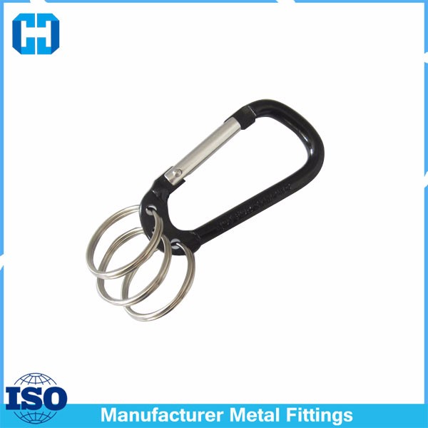 Wholesale Clip Ring Hooking Strong Fishing Traveling Carabiner Bag Keychain