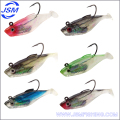 lead jigging head soft body fishing lure deep diving lure rigged with strong hook fishing tackle